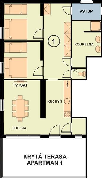 Chata Marine apartman 1 nakres