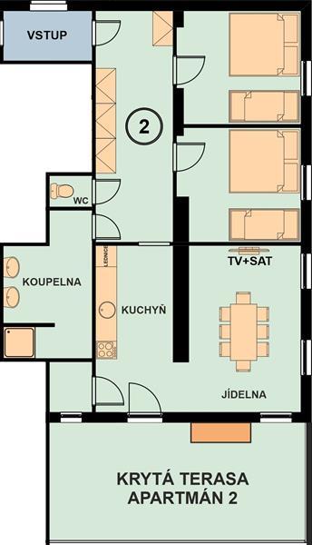 Chata Marine apartman 2 nakres